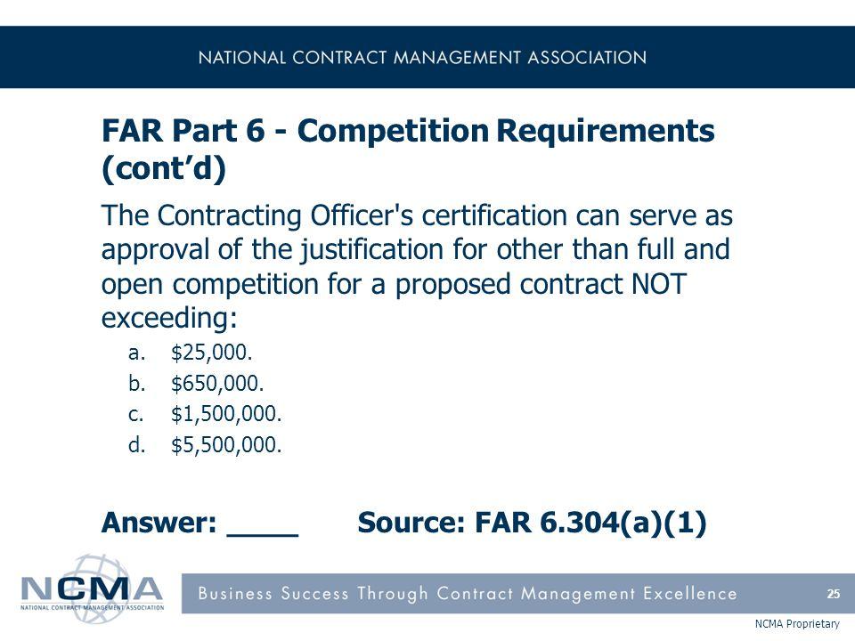 FAR Part 7 - Acquisition Planning