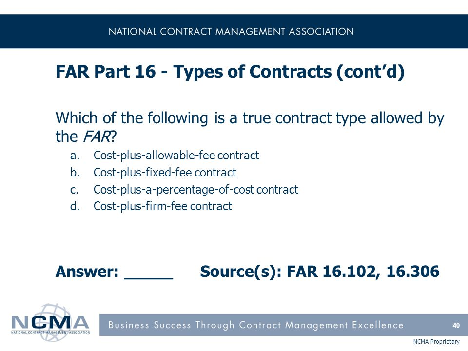 FAR Part 17 - Special Contracting Methods