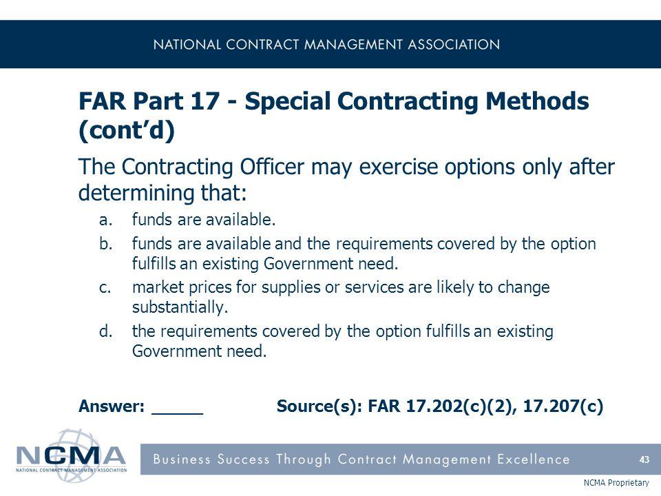 FAR Part 18 - Emergency Acquisitions