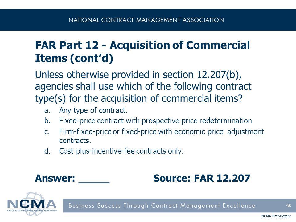 Section 3: FAR Parts 13-14 13 Simplified Acquisition Procedures