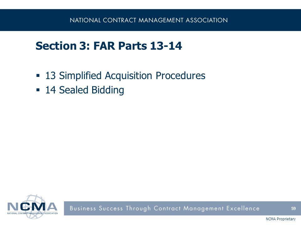 FAR Part 13 - Simplified Acquisition Procedures