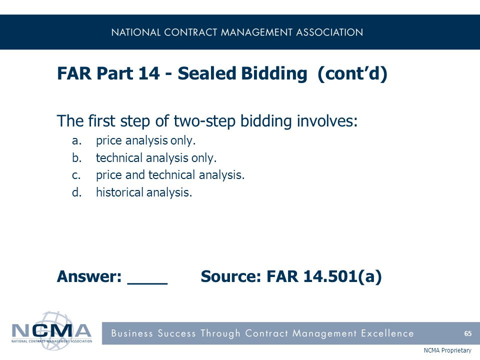 Section 4: FAR Part 15 - Contracting By Negotiation