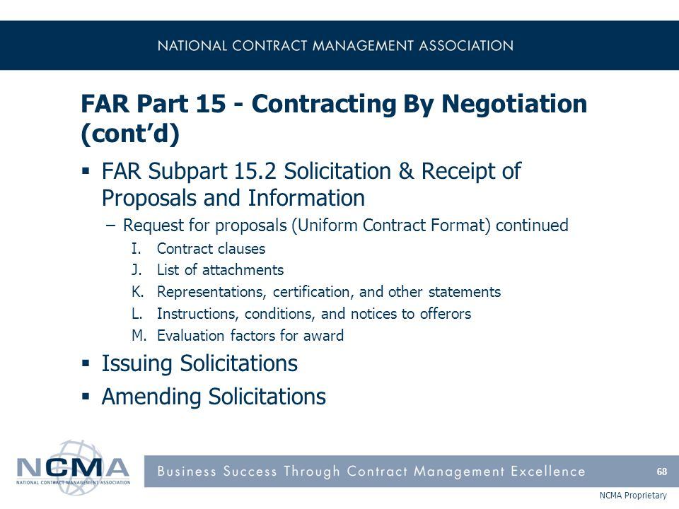 Section 1 Far Parts 1 9 Federal Acquisition Regulations