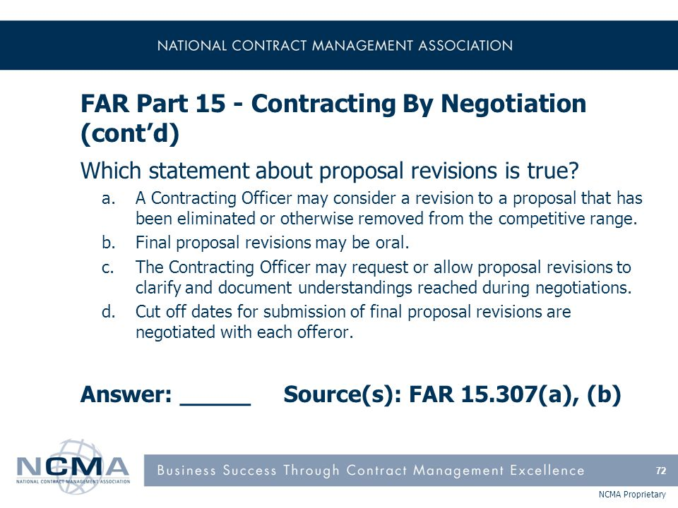 Section 5: FAR Parts 19, 22-25, 27-39 19 Small Business