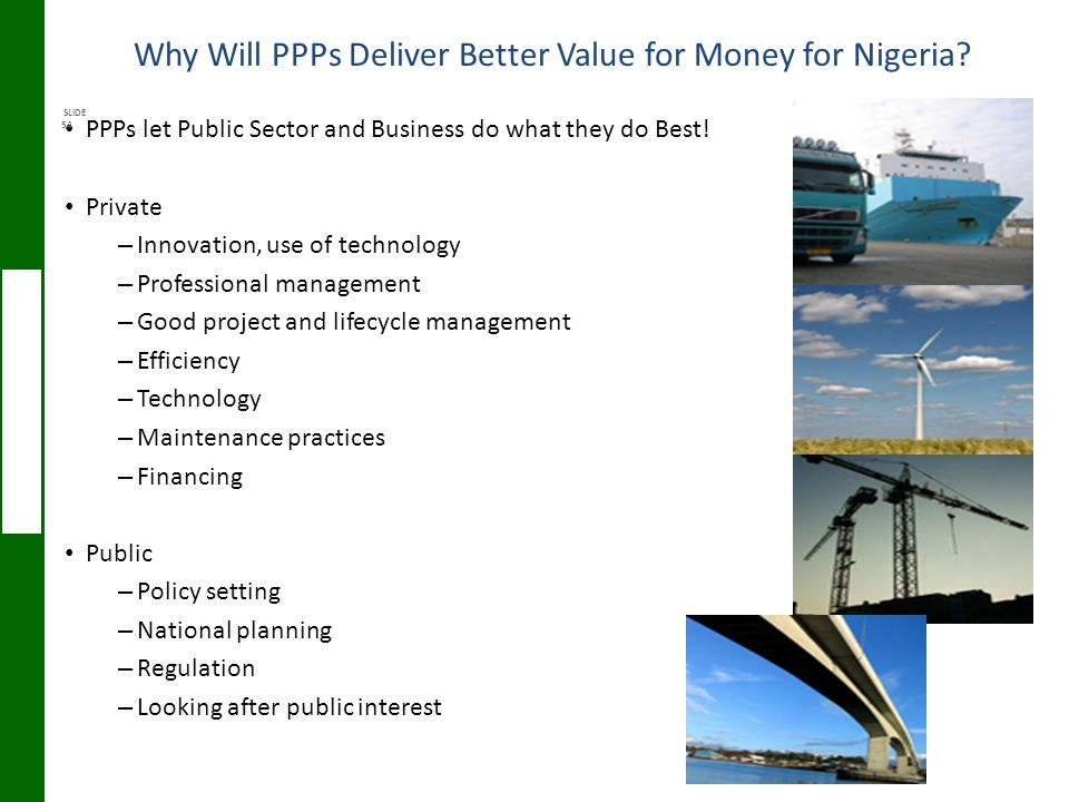 Why Will PPPs Deliver Better Value for Money for Nigeria