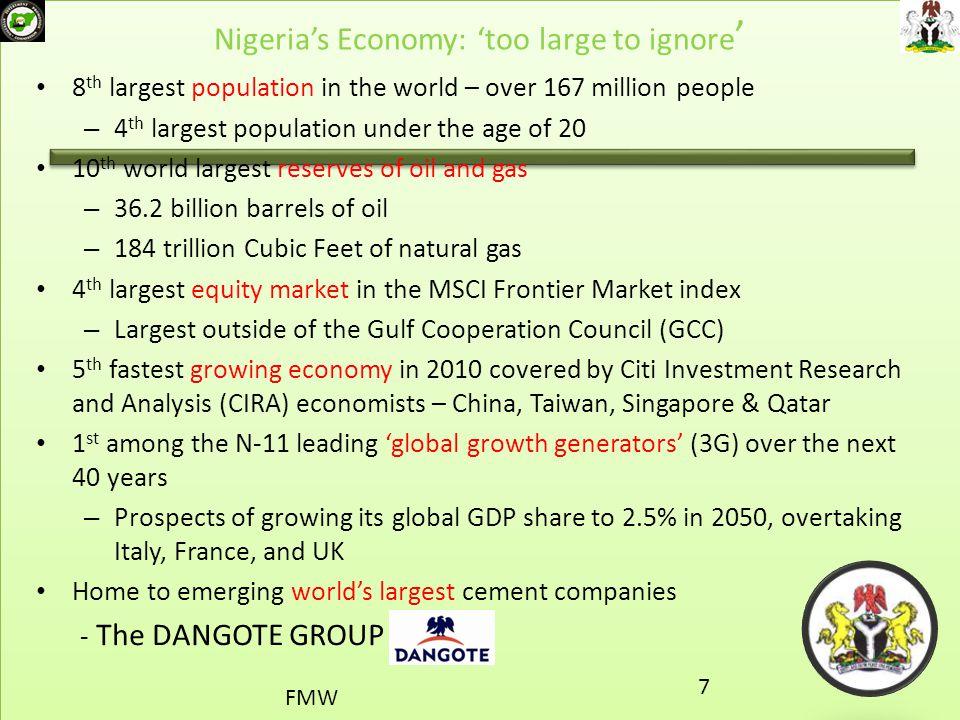 Nigeria's Economy: 'too large to ignore'