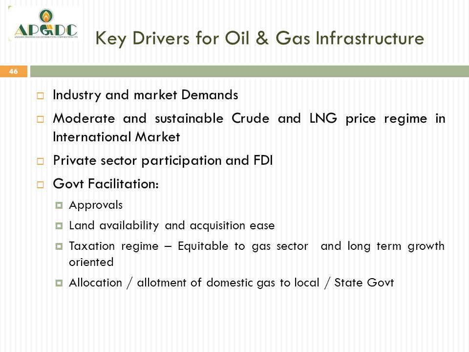 Key Drivers for Oil & Gas Infrastructure