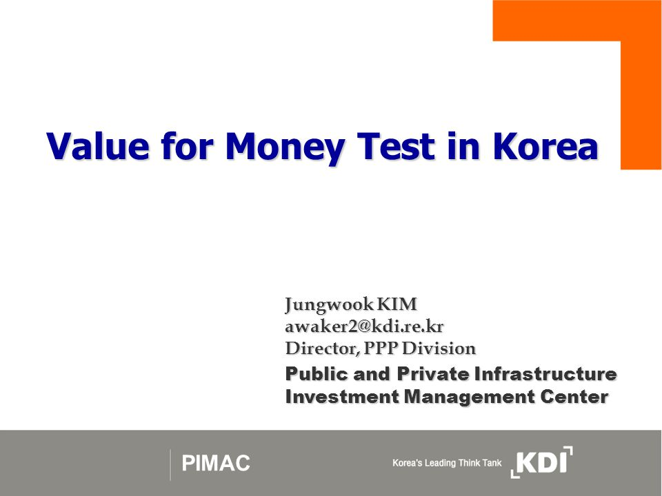 Value for Money Test in Korea