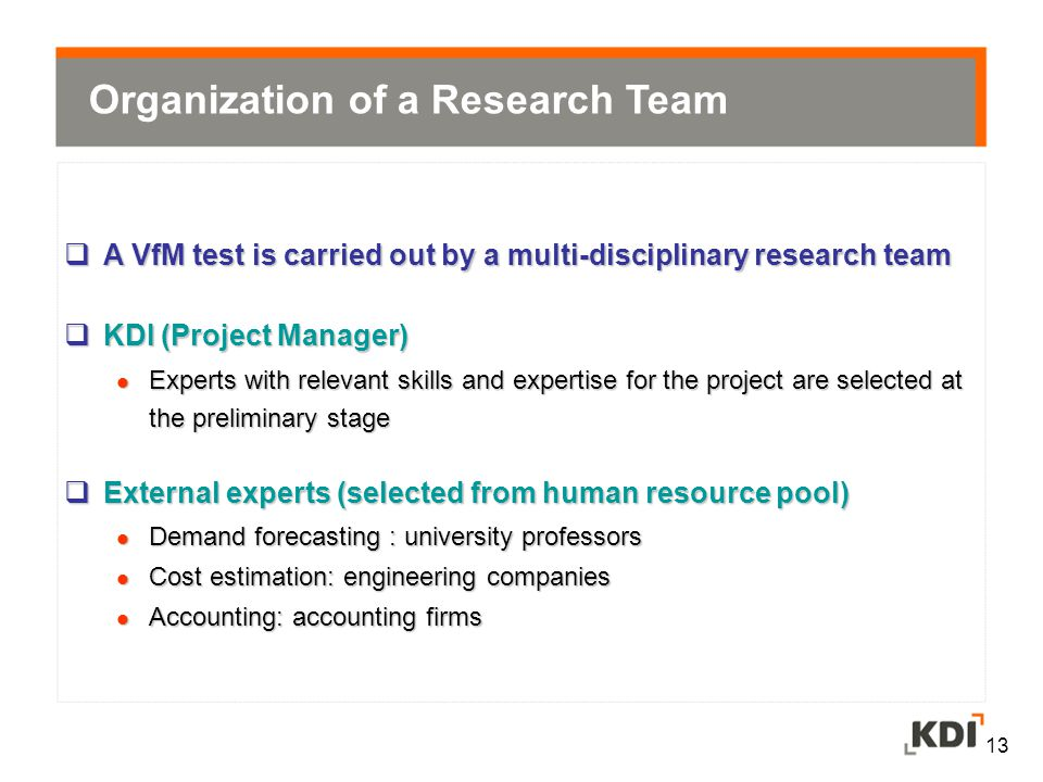 Organization of a Research Team