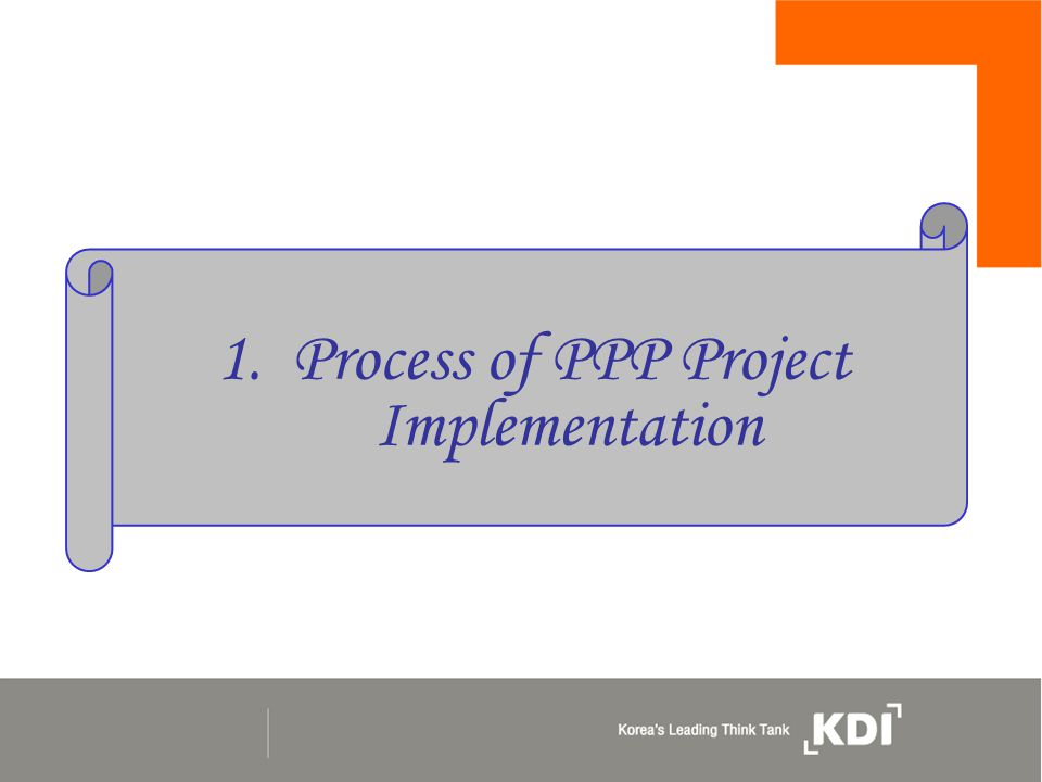 1. Process of PPP Project Implementation