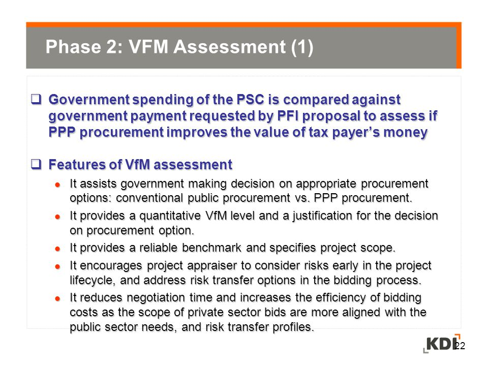 Phase 2: VFM Assessment (1)