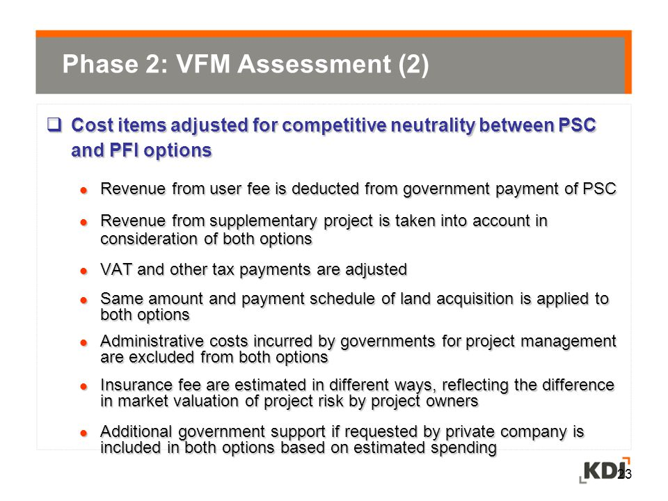 Phase 2: VFM Assessment (2)