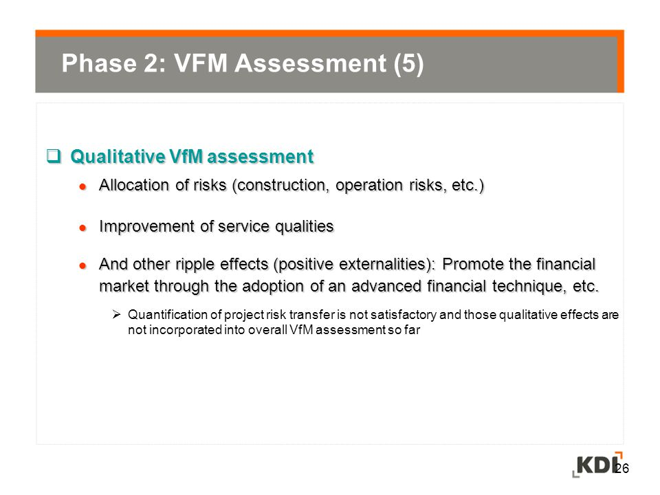 Phase 2: VFM Assessment (5)