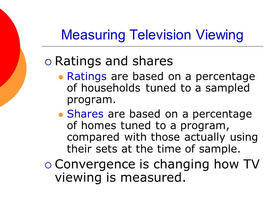 Measuring Television Viewing