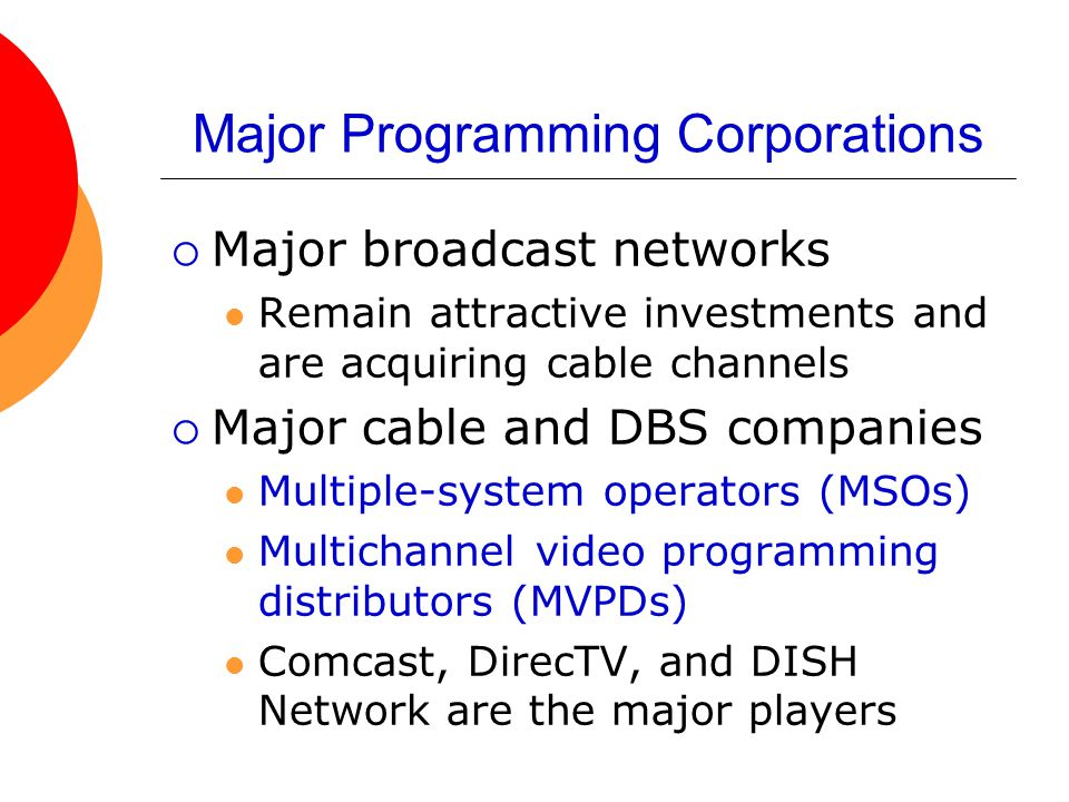 Major Programming Corporations