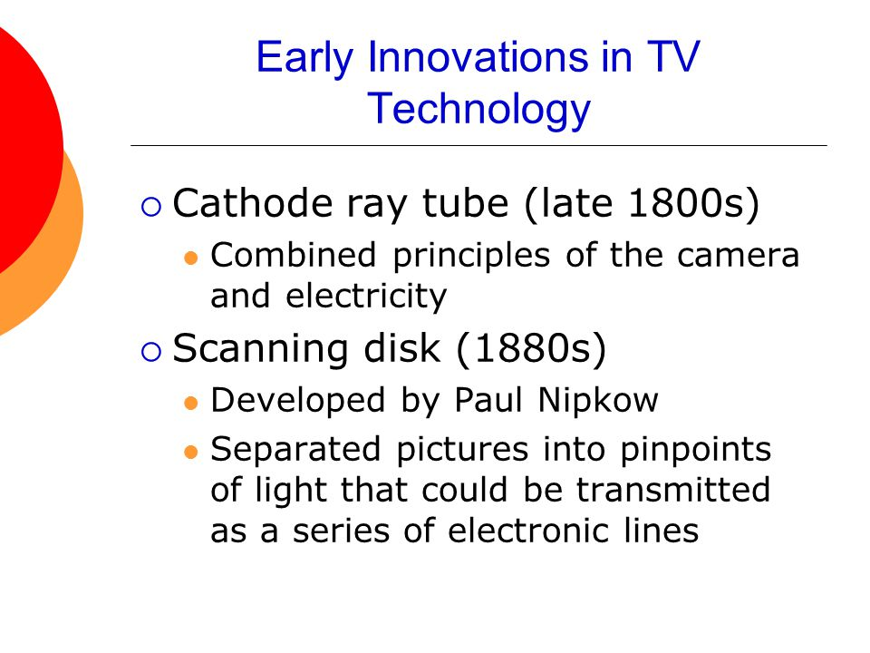 Early Innovations in TV Technology
