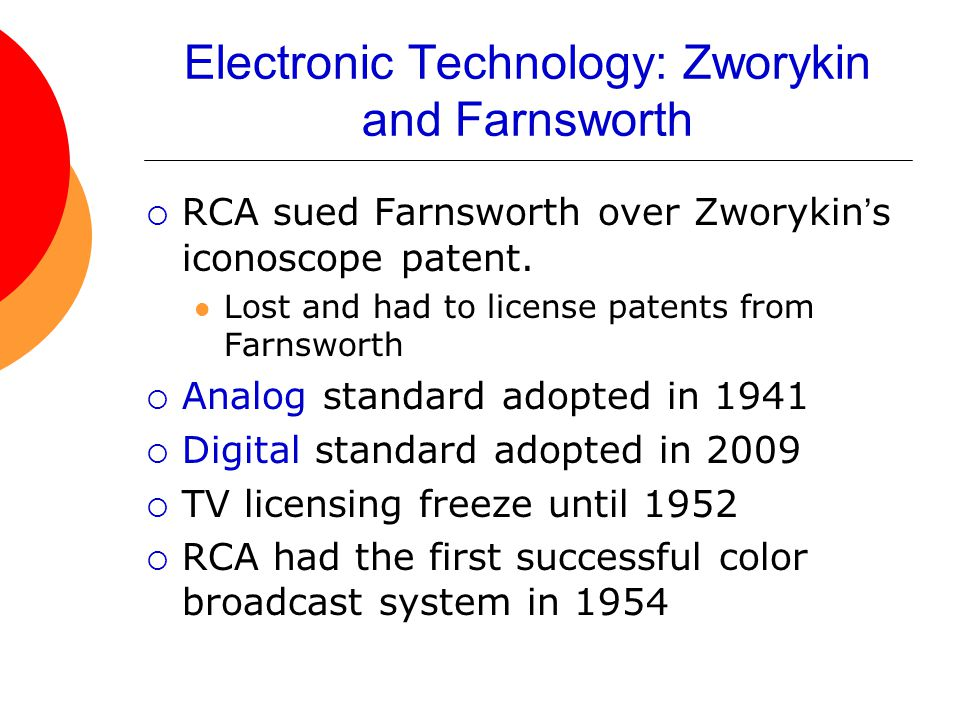 Electronic Technology: Zworykin and Farnsworth