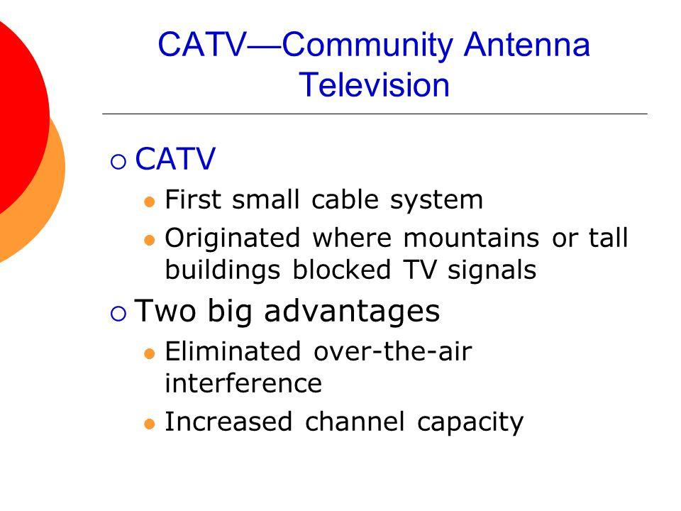 CATV—Community Antenna Television