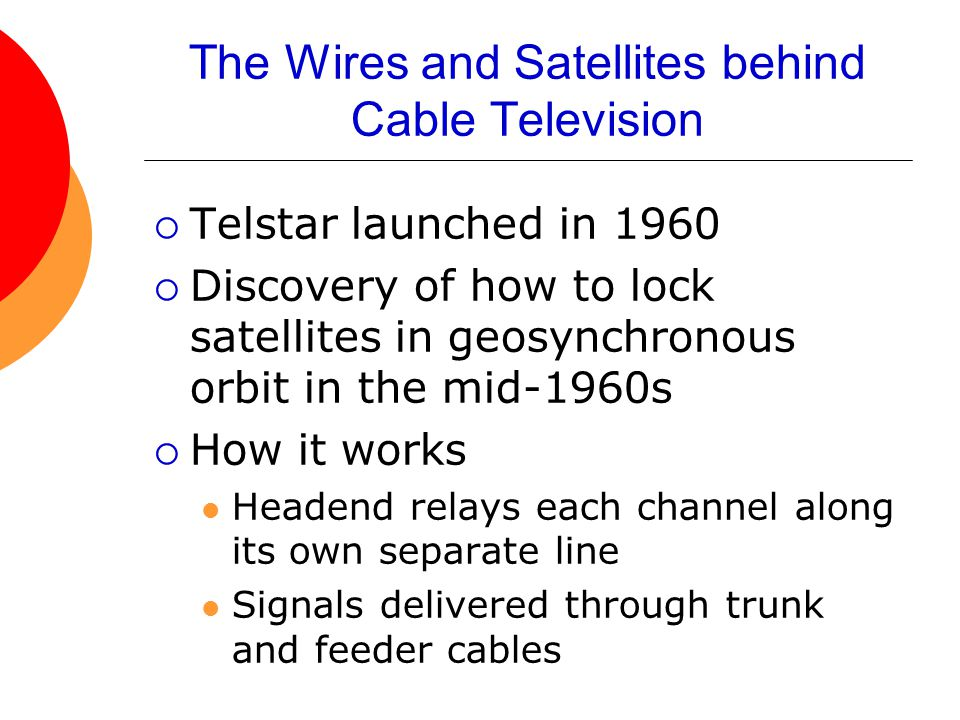 The Wires and Satellites behind Cable Television