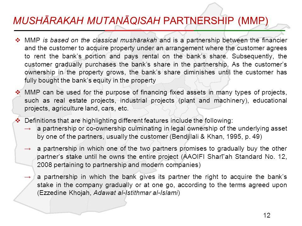 MUSHĀRAKAH MUTANĀQISAH PARTNERSHIP (MMP)
