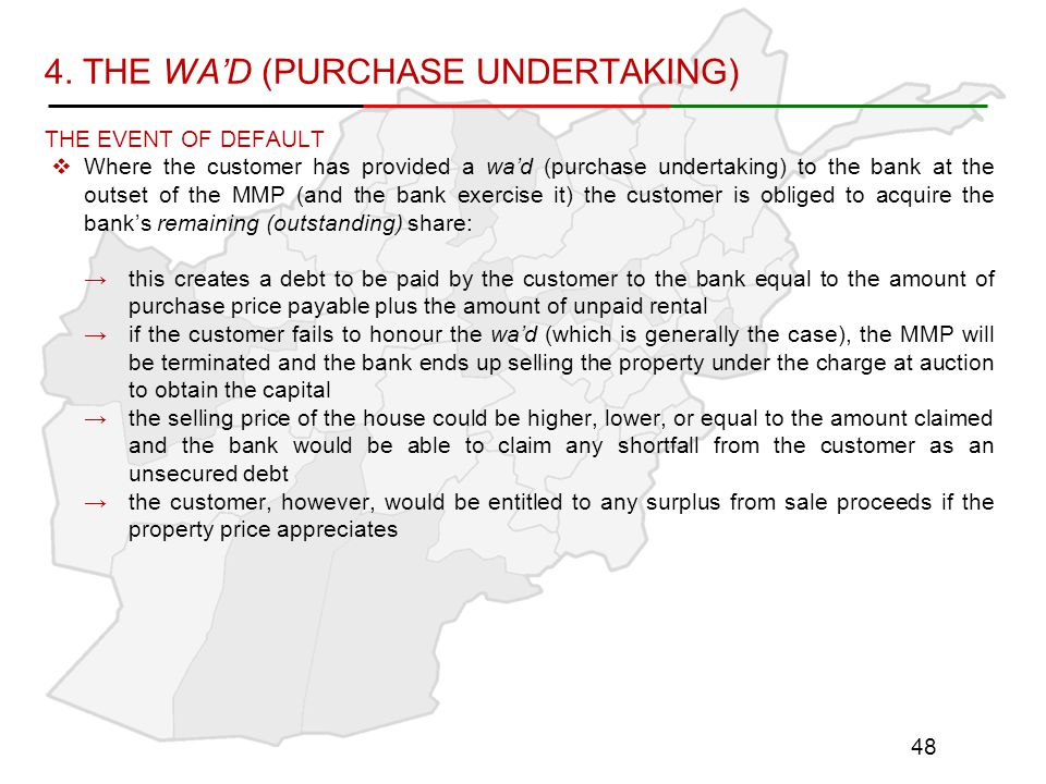 4. THE WA'D (PURCHASE UNDERTAKING)