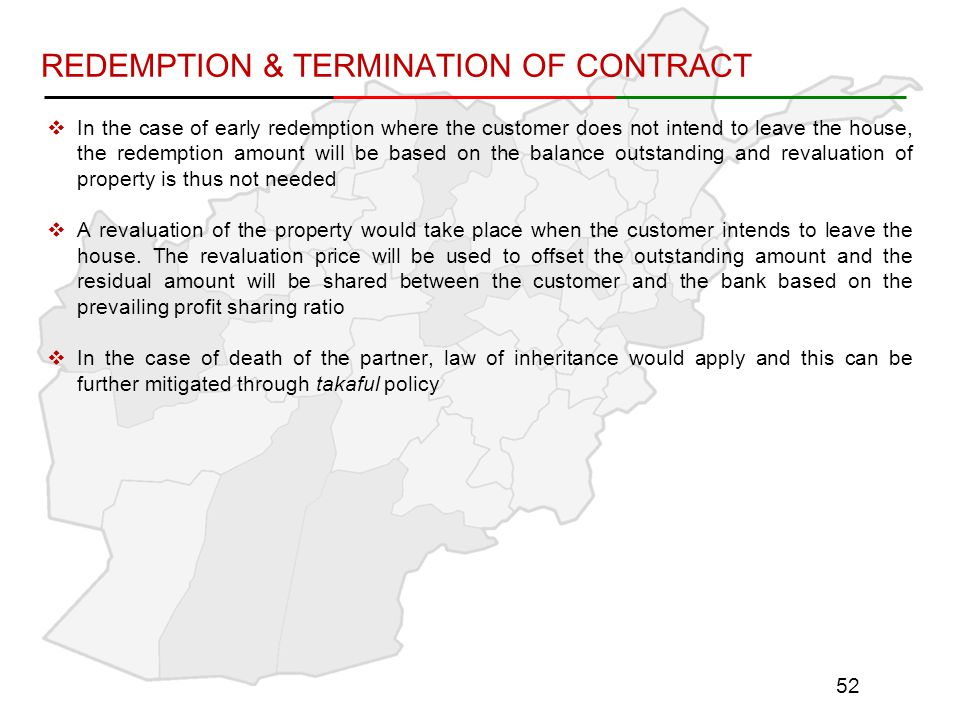 REDEMPTION & TERMINATION OF CONTRACT
