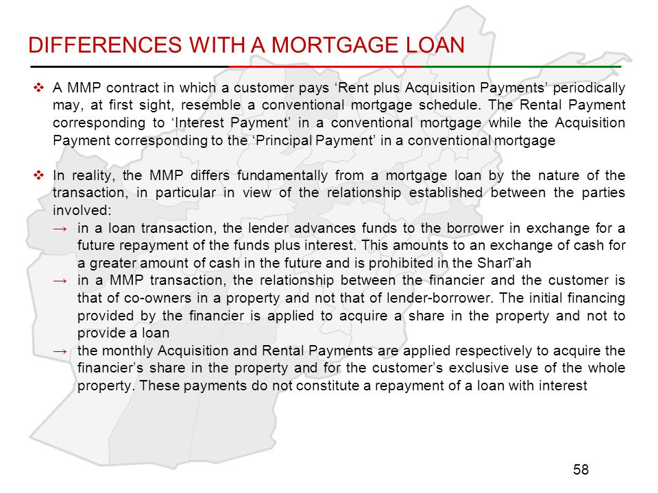 DIFFERENCES WITH A MORTGAGE LOAN