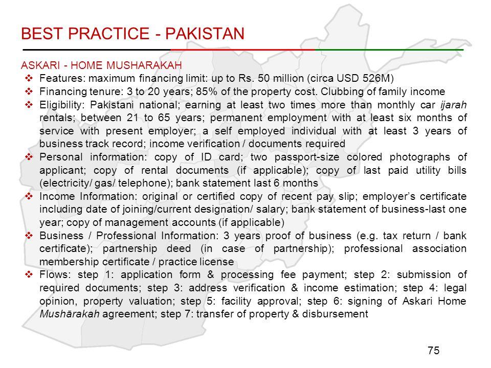 BEST PRACTICE - PAKISTAN