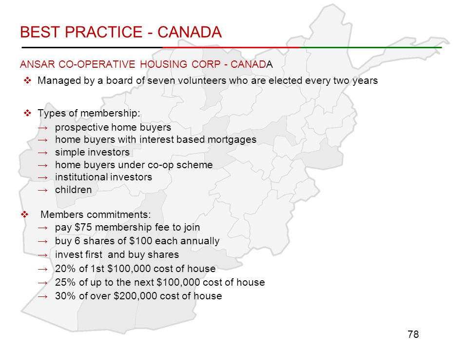 BEST PRACTICE - CANADA ANSAR CO-OPERATIVE HOUSING CORP - CANADA