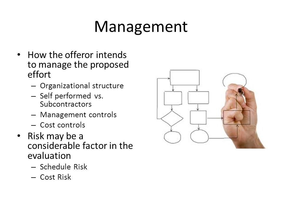 Management How the offeror intends to manage the proposed effort