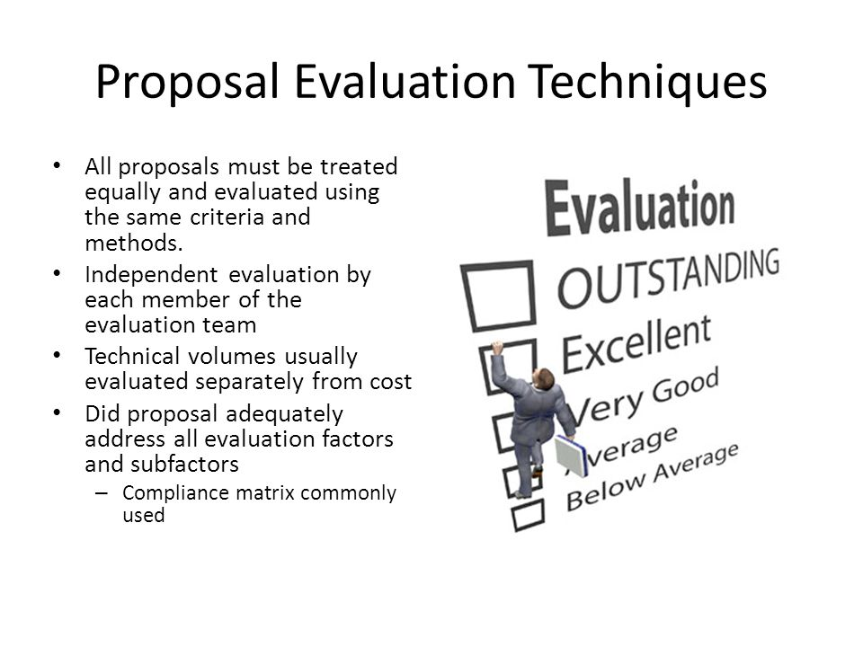 Proposal Evaluation Techniques