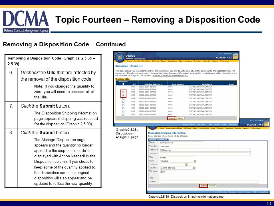 Topic Fourteen – Removing a Disposition Code