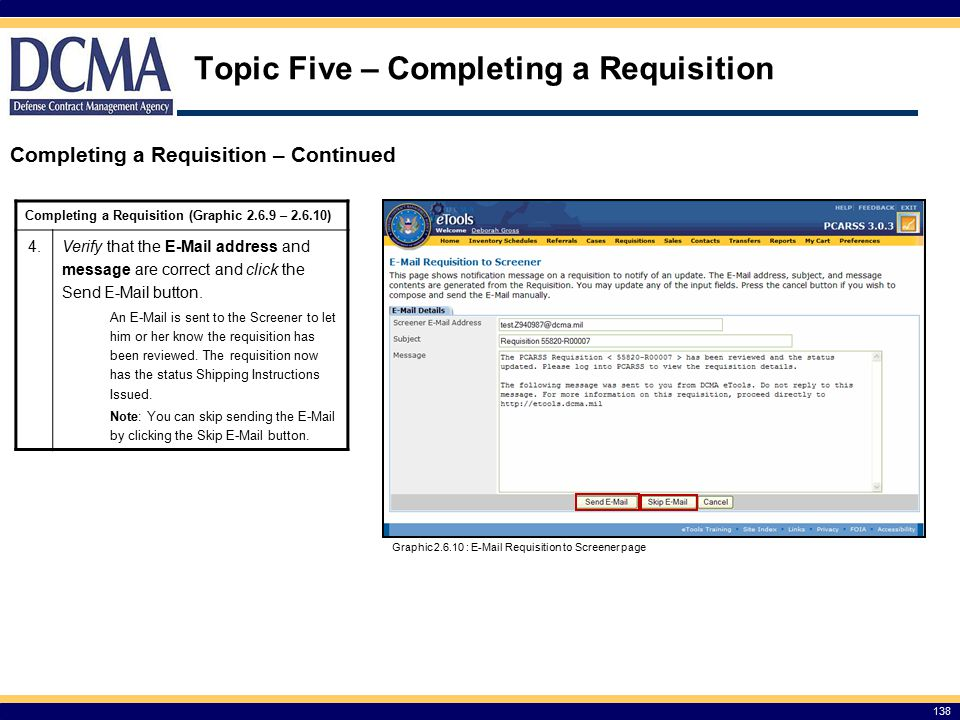 Topic Five – Completing a Requisition