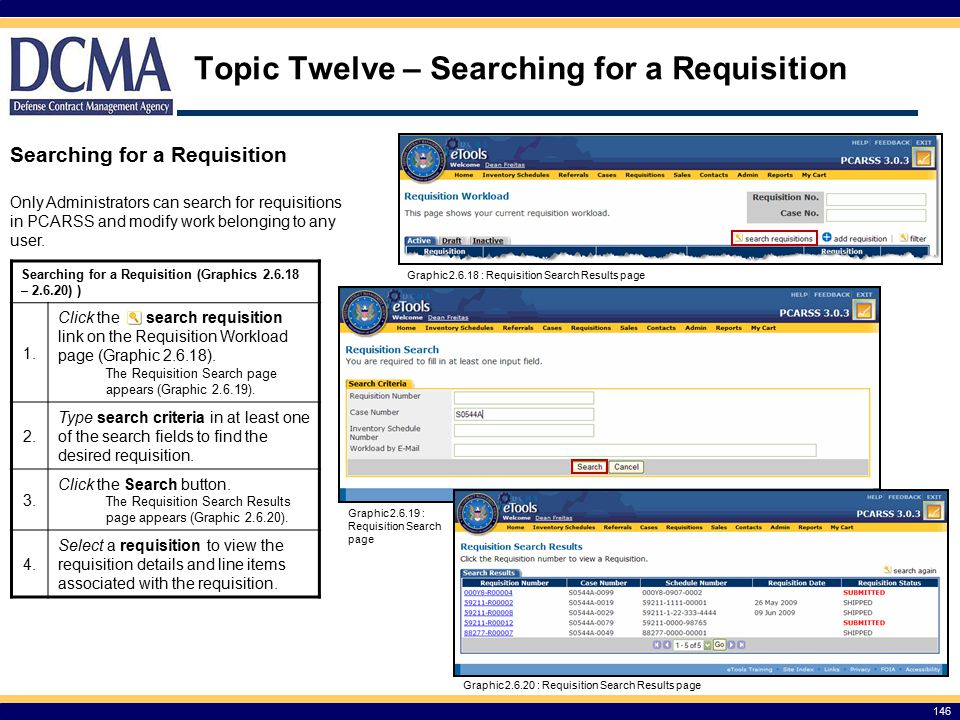 Topic Twelve – Searching for a Requisition