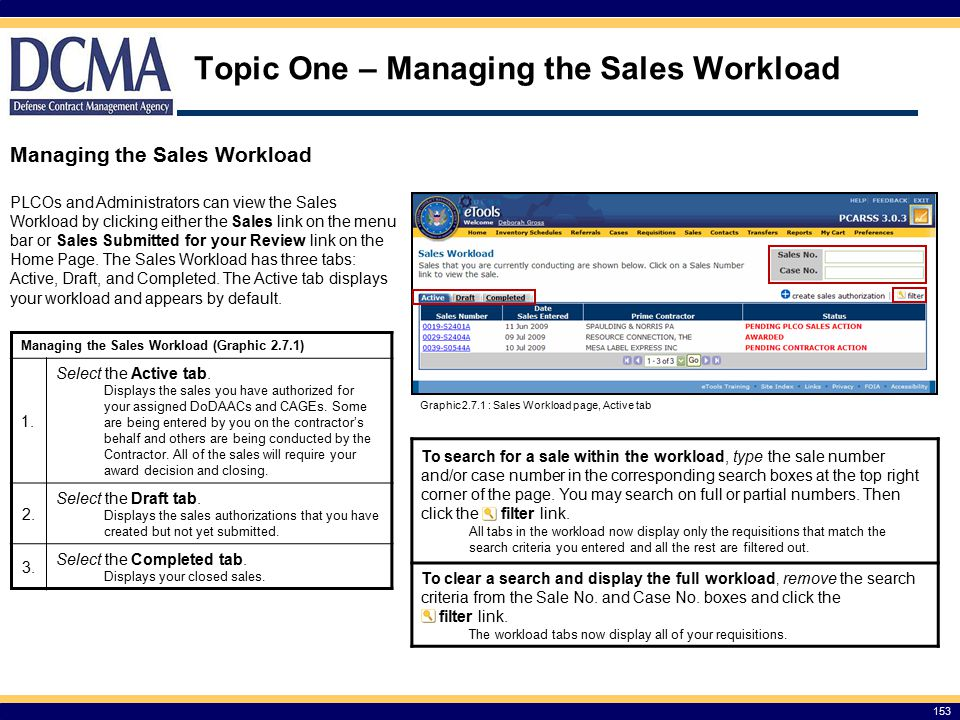 Topic One – Managing the Sales Workload