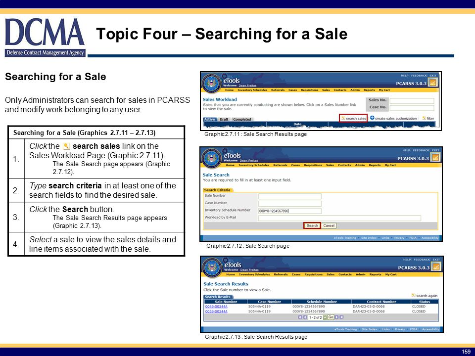 Topic Four – Searching for a Sale