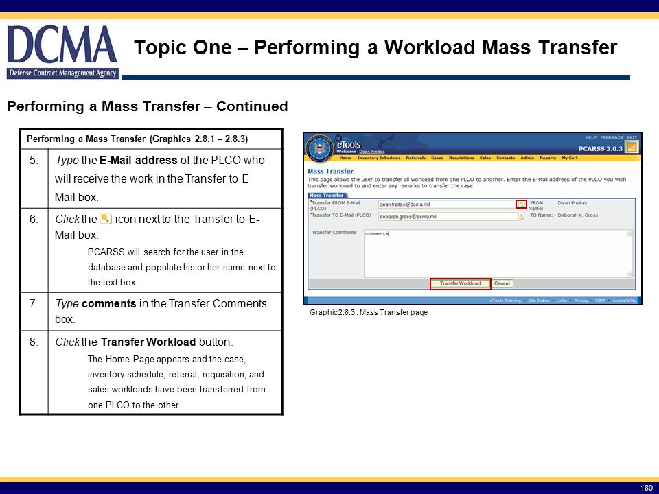 Topic One – Performing a Workload Mass Transfer