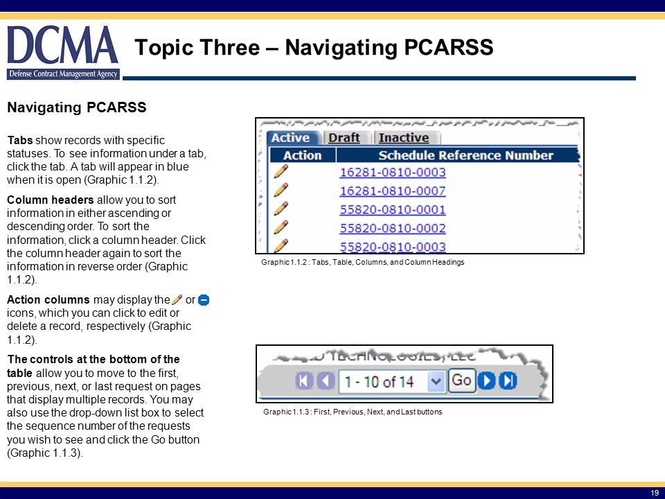 Topic Three – Navigating PCARSS