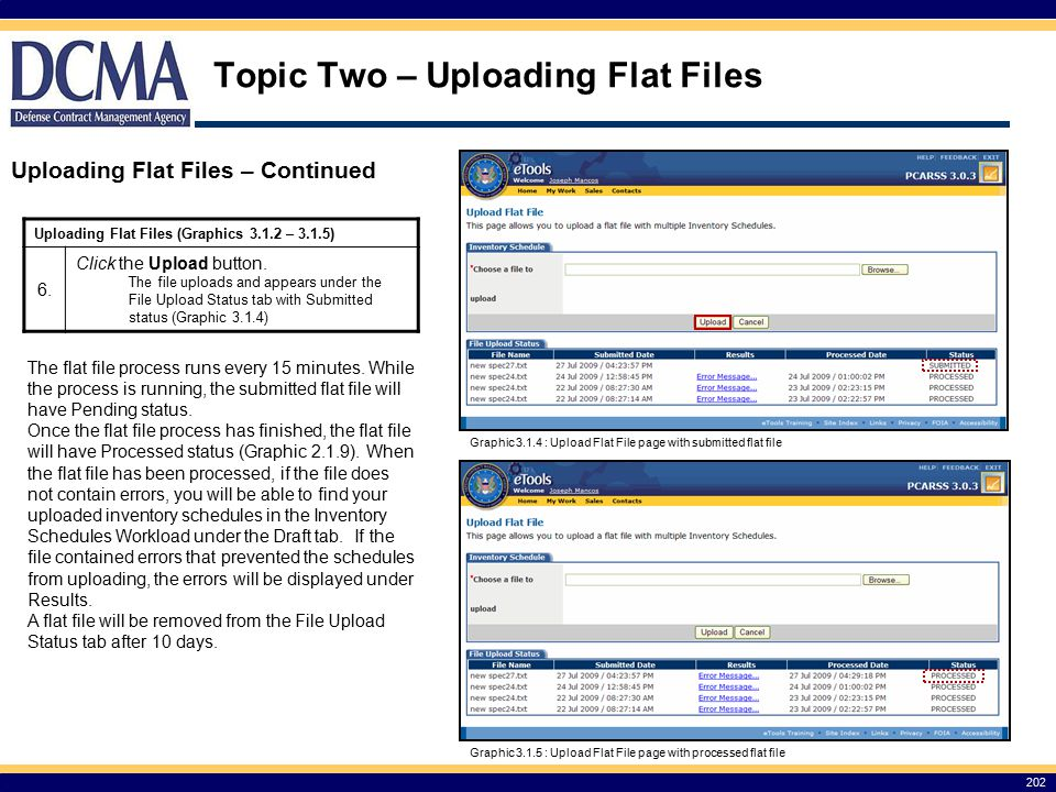 Topic Two – Uploading Flat Files