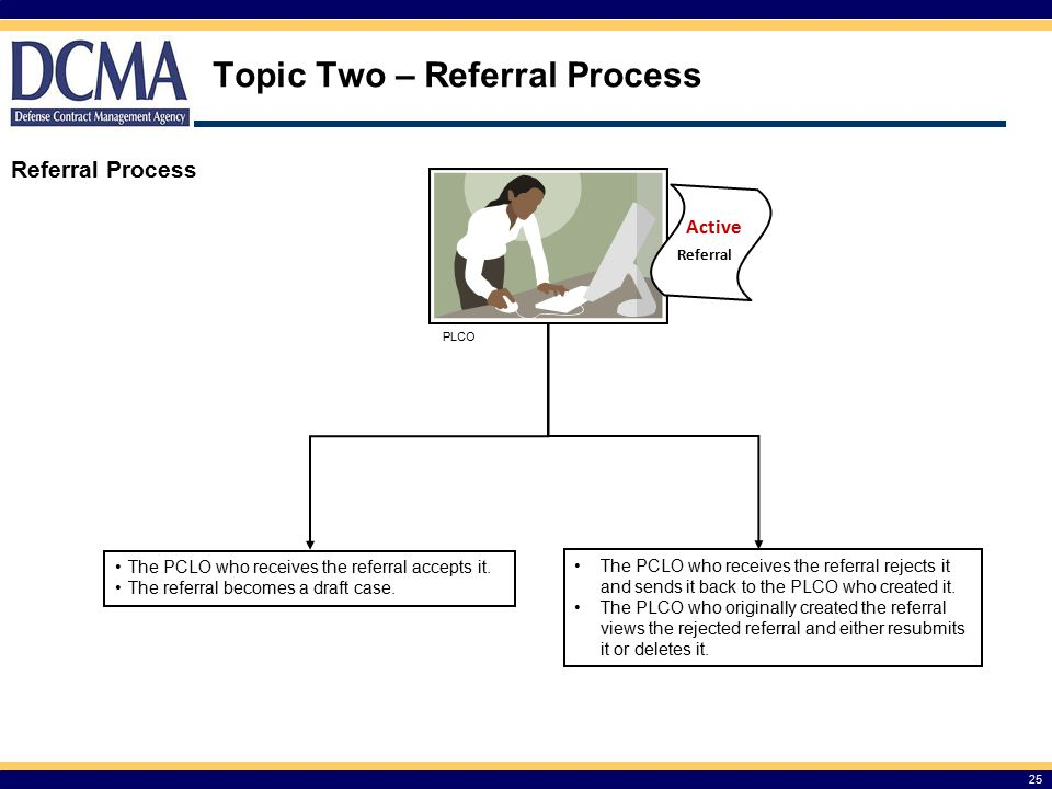 Topic Two – Referral Process