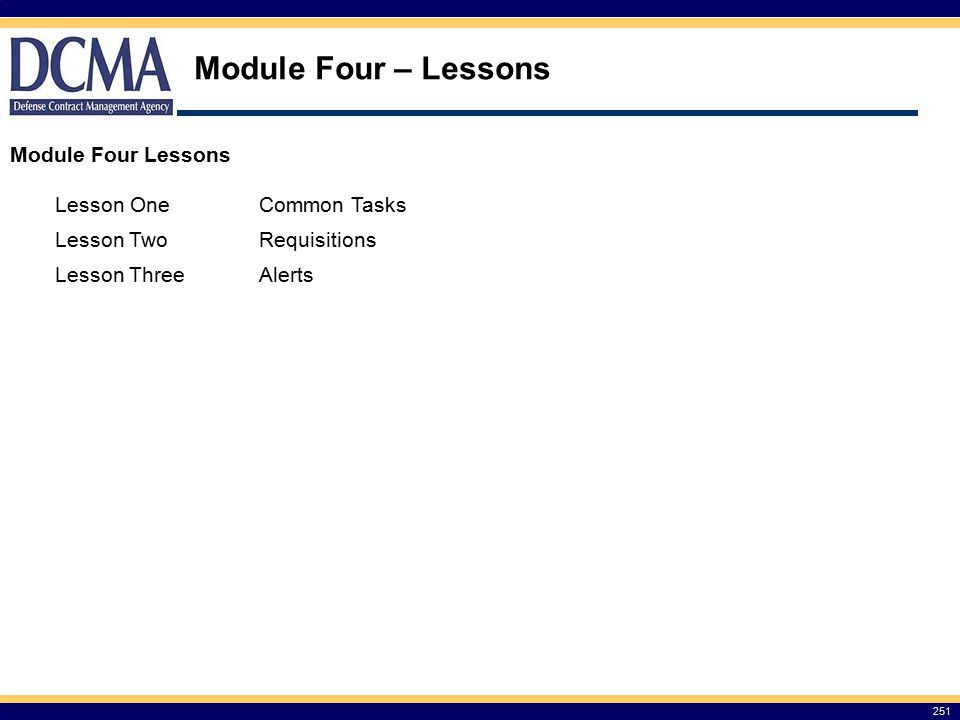 Module Four – Lessons Module Four Lessons Lesson One Common Tasks