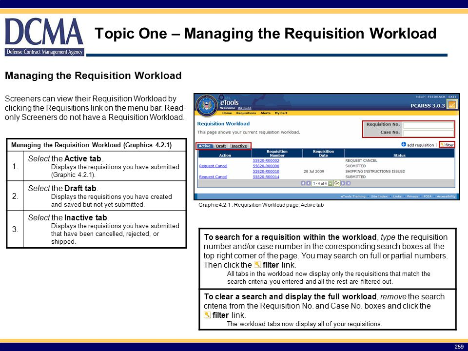 Topic One – Managing the Requisition Workload