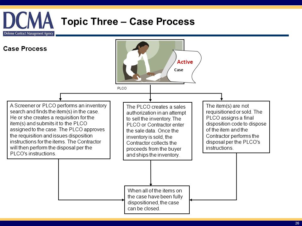 Topic Three – Case Process