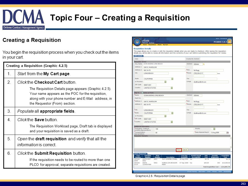 Topic Four – Creating a Requisition
