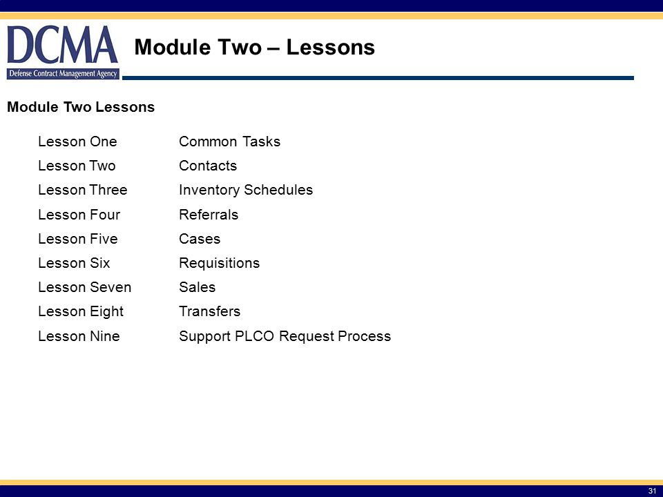 Module Two – Lessons Module Two Lessons Lesson One Common Tasks