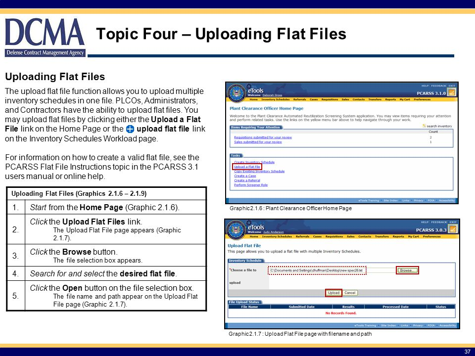Topic Four – Uploading Flat Files
