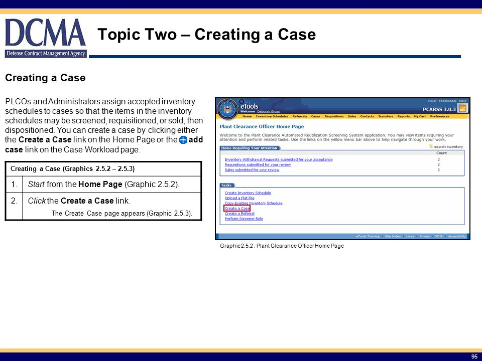 Topic Two – Creating a Case