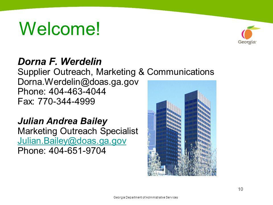 Welcome! Dorna F. Werdelin