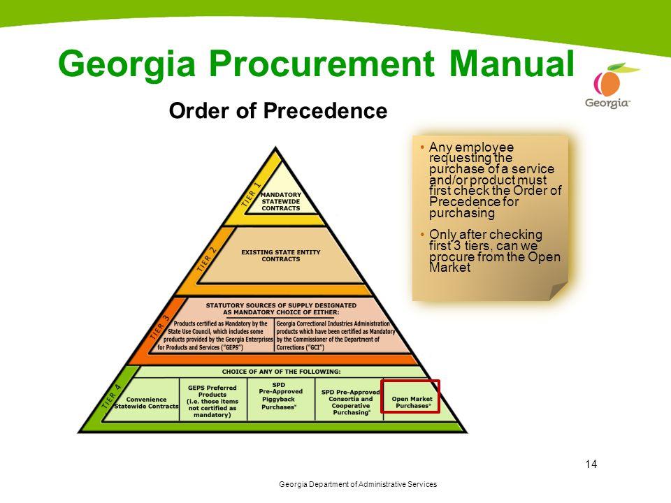 Georgia Procurement Manual