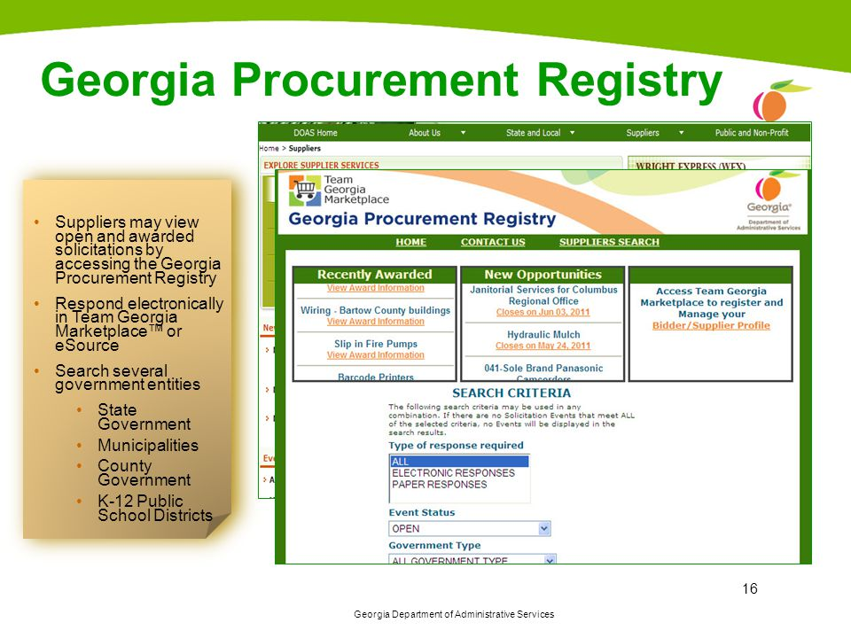 Georgia Procurement Registry